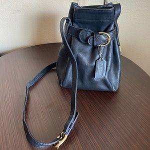 Vintage Black Coach Bucket Bag Crossbody #9927